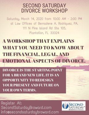 Second Saturday March Divorce Workshop